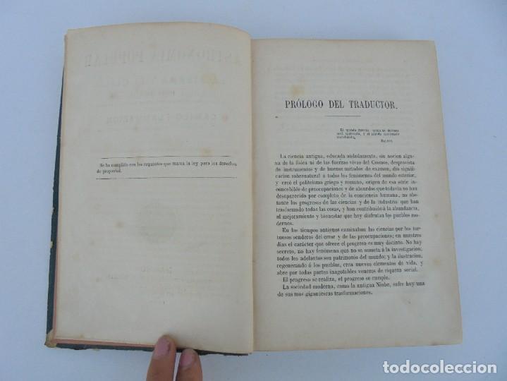 Libros antiguos: ASTRONOMIA POPULAR. LA TIERRA Y EL CIELO. CAMILO FLAMMARION. IMPRENTA Y LIBRERIA DE GASPAR 1879. - Foto 8 - 277513598