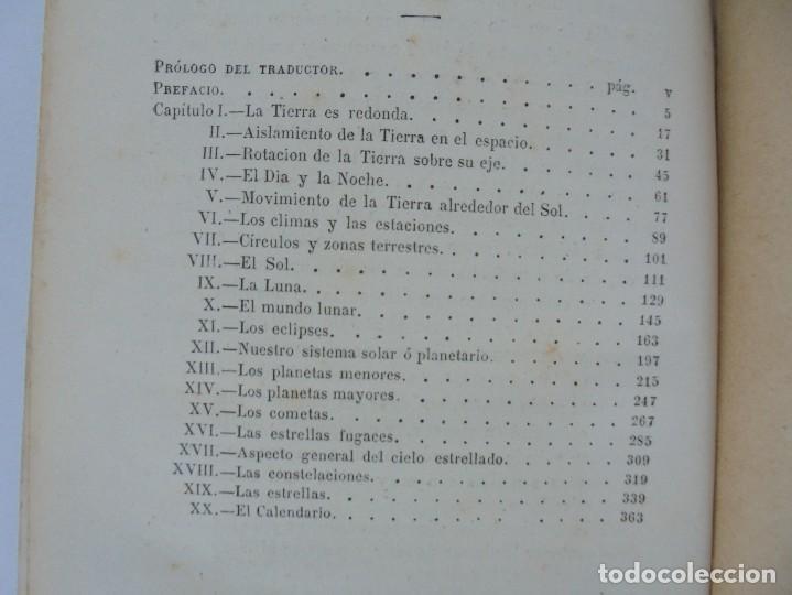 Libros antiguos: ASTRONOMIA POPULAR. LA TIERRA Y EL CIELO. CAMILO FLAMMARION. IMPRENTA Y LIBRERIA DE GASPAR 1879. - Foto 14 - 277513598