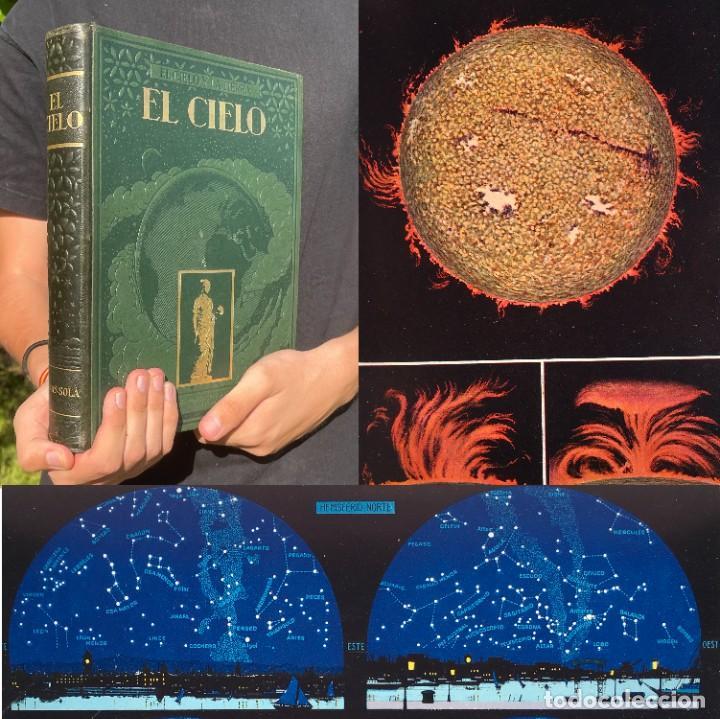 EL CIELO - NOVÍSIMA ASTRONOMÍA ILUSTRADA - JOSÉ COMAS SOLÁ (Libros Antiguos, Raros y Curiosos - Ciencias, Manuales y Oficios - Astronomía)