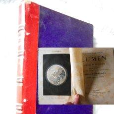 Libros antiguos: LUMEN HISTORIA DE UN COMETA. 1874 CAMILO FLAMARION. Lote 278383628