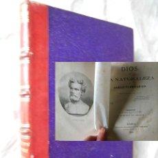 Libros antiguos: DIOS EN LA NATURALEZA. 1873 CAMILO FLAMARION. Lote 278383798