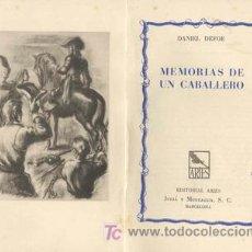 Libros antiguos: MEMORIAS DE UN CABALLERO DANIEL DEFOE. Lote 24934101