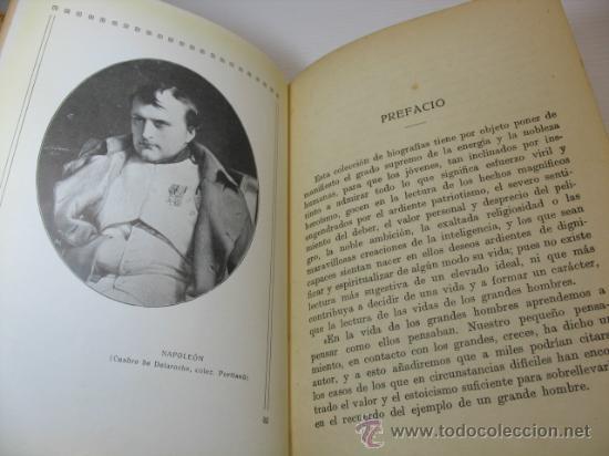 Libros antiguos: VIDAS DE GRANDES HOMBRES, NAPOLEON, S.A.I.S.B.H., BARCELONA. - Foto 4 - 12891633