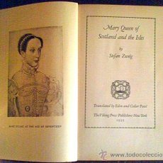 Libros antiguos: MARY QUEEN OF SCOTLAND AND THE ISLES.STEFAN ZWEIG.NEW YORK 1935. Lote 25841554