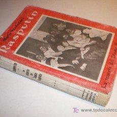 Libros antiguos: RASPUTIN - LA MUERTE DEL DIABLO SAGRADO - MARIO VERDAQUER. 1ª 1930. Lote 20931068