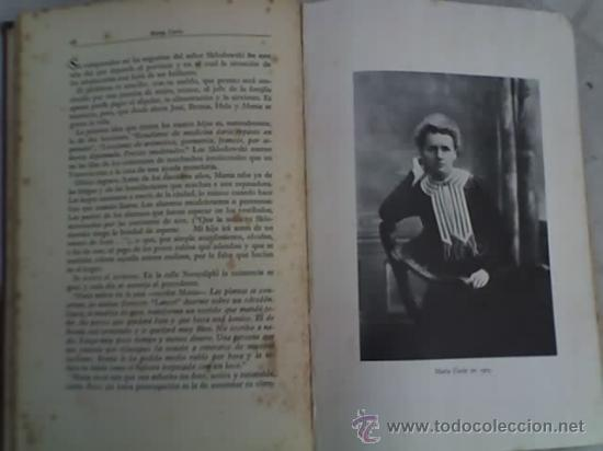 Libros antiguos: LA VIDA HEROICA DE MARIA CURIE, por Eve Curie - Segunda Edición - Espasa Calpe - Argentina - 1937 - Foto 3 - 20873739
