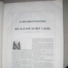 Libros antiguos: 1851 BIOGRAFIA DEL BRIGADIER DON JUAN JOSE DUSMET Y SESMA 40X33 CMS. Lote 23030983