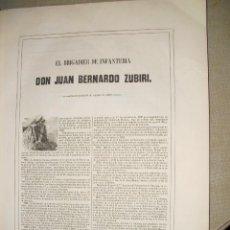 Libros antiguos: 1851 BIOGRAFIA DEL BRIGADIER DE INFANTERIA D. JUAN BERNARDO ZUBIRI ( VIZCARRET-PAMPLONA) 40X33 CMS. Lote 27301796