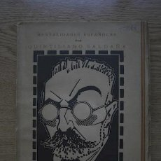Libros antiguos: MENTALIDADES ESPAÑOLAS I. MIGUEL DE UNAMUNO. SALDAÑA (QUINTILIANO). Lote 16345839
