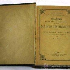 Libros antiguos: RELACIONES DE VIDA Y AVENTURAS DEL ESCUDERO MARCOS OBREGÓN MAESTRO VICENTE ESPINEL IMP ACAROO 1868. Lote 17340449