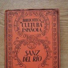 Libros antiguos: SANZ DEL RÍO. SIGLO XIX. MANRIQUE (GERVASIO). Lote 17873330