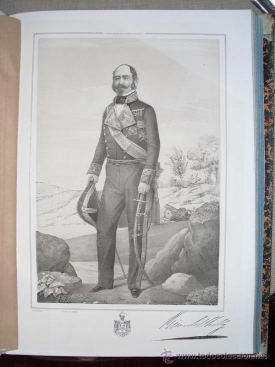 1852 BIOGRAFIA DEL TENIENTE GENERAL DON RICARDO SHELLY 42X31 CMS (Libros Antiguos, Raros y Curiosos - Biografías )