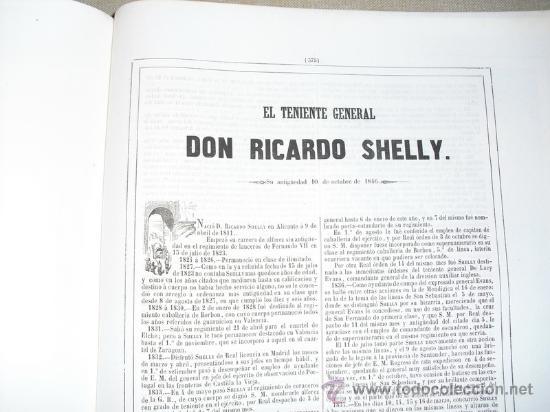 Libros antiguos: 1852 BIOGRAFIA DEL TENIENTE GENERAL DON RICARDO SHELLY 42X31 CMS - Foto 2 - 21451918