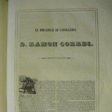 Libros antiguos: 1851 BIOGRAFIA DEL BRIGADIER DE CABª D. RAMON CORRES DE VEDIA ( MARAÑON - ESTELLA. Lote 27082060
