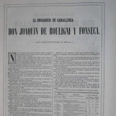 Libros antiguos: 1851 BIOGRAFIA DEL BRIGADIER DE CABª D. JOAQUIN DE BOULIGNI Y FONSECA ( PARIS ). Lote 20688889