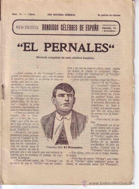 Libros antiguos: BANDIDOS CELEBRES DE ESPAÑA EL PERNALES TOMO UNICO - Foto 2 - 23048389