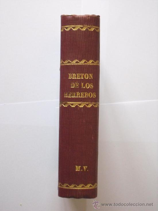 BRETON DE LOS HERREROS - RECUERDOS DE SU VIDA Y DE SU OBRA - EL MARQUES DE MOLINS - 1883 - 1ª EDIC. (Libros Antiguos, Raros y Curiosos - Biografías )