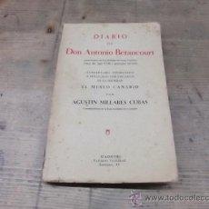 Libros antiguos: CANARIAS-DIARIO DE DON ANTONIO BETANCOURT. Lote 23163028