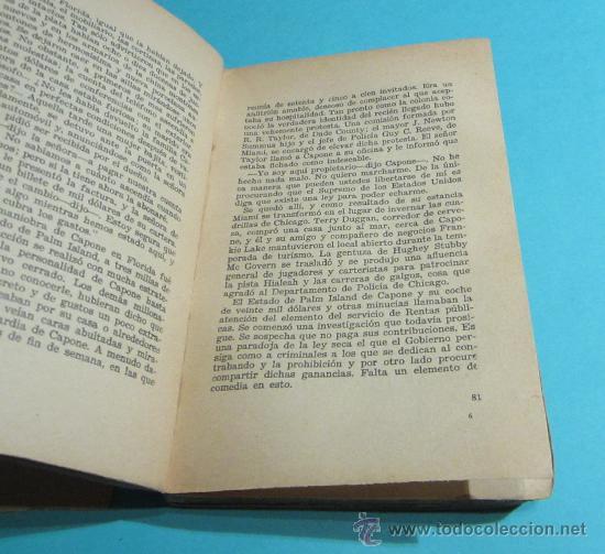 Libros antiguos: AL CAPONE. FRED D. PASLEY. TRADUCCIÓN DE SARA VILCHES - Foto 3 - 28512950