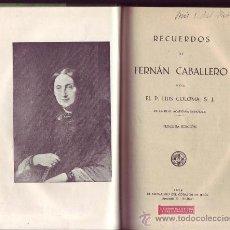 Alte Bücher - Recuerdos de Fernán Caballero. P. Luis COLOMA. - 29721585