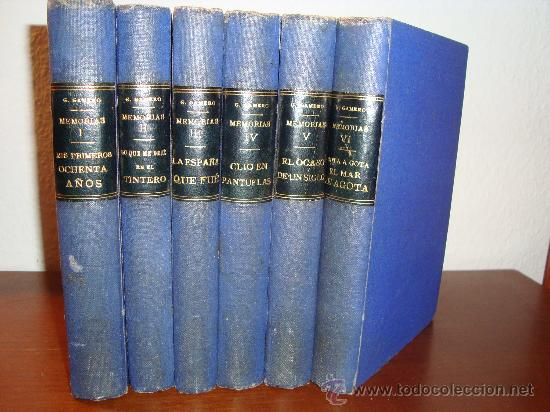 MEMORIAS - MIS PRIMEROS OCHENTA AÑOS - 6 TOMOS - E.GUTIERREZ-GAMERO (Libros Antiguos, Raros y Curiosos - Biografías )