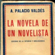 Libros antiguos: PALACIO VALDÉS: LA NOVELA DE UN NOVELISTA. ESCENAS DE LA INFANCIA Y ADOLESCENCIA. Lote 31824753