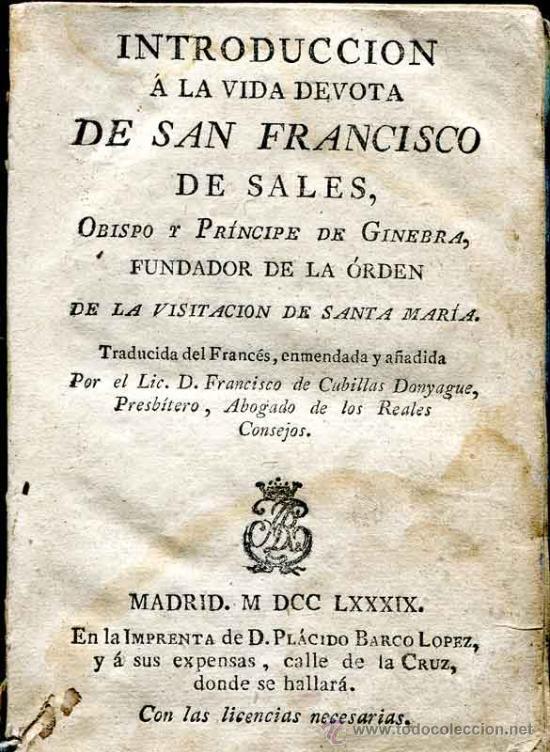 aa407933798 1789  introducción a la vida devota de san fran - Comprar Libros ...