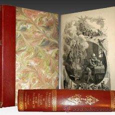 Libros antiguos: 1876 - LUJOSO VOLUMEN DE LA VIDA DE CERVANTES - 2 TOMOS CON 22 LÁMINAS DE PLANAS. Lote 32620963