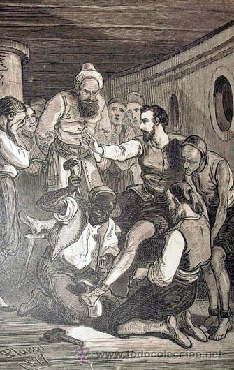 Libros antiguos: 1876 - LUJOSO VOLUMEN DE LA VIDA DE CERVANTES - 2 Tomos con 22 Láminas de PLANAS - Foto 11 - 32620963