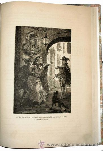 Libros antiguos: 1876 - LUJOSO VOLUMEN DE LA VIDA DE CERVANTES - 2 Tomos con 22 Láminas de PLANAS - Foto 8 - 32620963