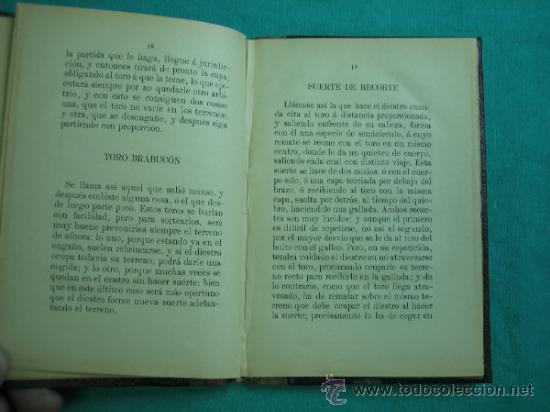 Libros antiguos: La Tauromaquia o Arte de Torear por Jose Delgado (alias) Hillo 1894 - Foto 4 - 34678745