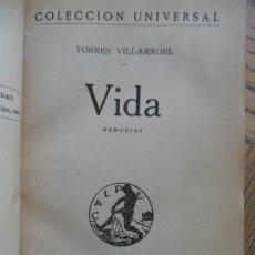 Libros antiguos: VIDA. DIEGO TORRES VILLARROEL. MADRID, CALPE 1920. Lote 35063558
