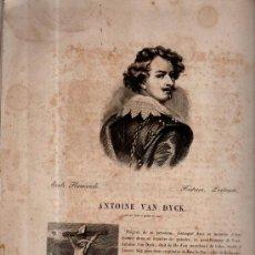 Libros antiguos: ECOLE FLAMANDE, HISTOIRE, PORTRAITS, ANTOINE VAN DYCK, IMP. BENARD ET COMP., 20 PÁGS, 28X37CM. Lote 35075263