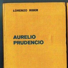 Libros antiguos: AURELIO PRUDENCIO. LORENZO RIBER EDITORIAL LABOR, 1936.. Lote 35190290