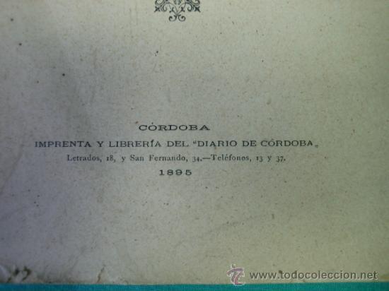 Libros antiguos: Biografias Cordobesas. Francisco Gonzalez y Saenz 1895. Incompleta - Foto 3 - 35731140