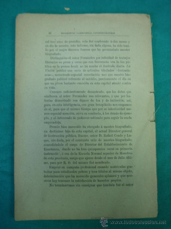 Libros antiguos: Biografias Cordobesas. Francisco Gonzalez y Saenz 1895. Incompleta - Foto 6 - 35731140