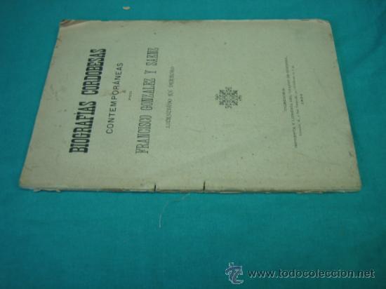 Libros antiguos: Biografias Cordobesas. Francisco Gonzalez y Saenz 1895. Incompleta - Foto 7 - 35731140