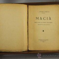 Libros antiguos: 3657- MACIA. AYMAMI Y BADUINA. EDIT. LLIB. CATALONIA. 1933. . Lote 38854419