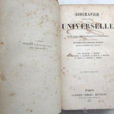 Libros antiguos: BIOGRAPHIE PORTATIVE UNIVERSELLE. GARNIER FRÈRES, EDITEURS, PARIS, 1861.. Lote 39374213