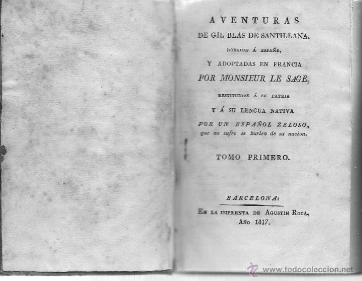 Libros antiguos: AVENTURAS DE GIL BLAS DE SANTILLANA - Foto 2 - 40175103
