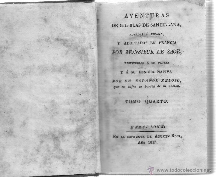 Libros antiguos: AVENTURAS DE GIL BLAS DE SANTILLANA - Foto 5 - 40175103