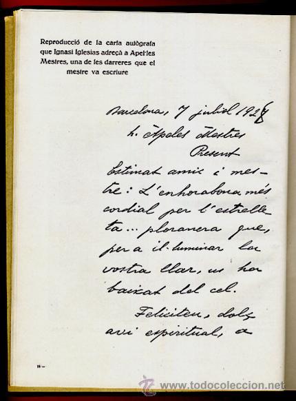 Libros antiguos: LIBRO, LLIBRE D'OR A INGNASI IGLESIAS, LIBRO DE ORO , 1935 ,ORIGINAL - Foto 5 - 41007605