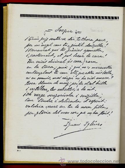 Libros antiguos: LIBRO, LLIBRE D'OR A INGNASI IGLESIAS, LIBRO DE ORO , 1935 ,ORIGINAL - Foto 8 - 41007605
