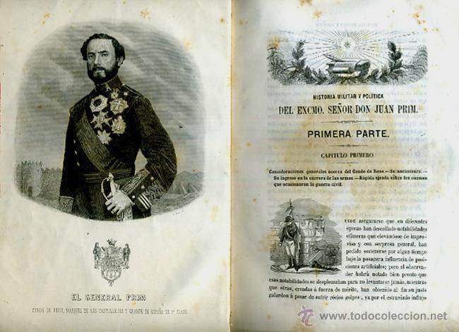 Libros antiguos: LIBRO, 2 TOMOS, HISTORIA MILITAR Y POLITICA D. JUAN PRIM , 1860 , GRABADOS, ORIGINAL - Foto 3 - 41073438
