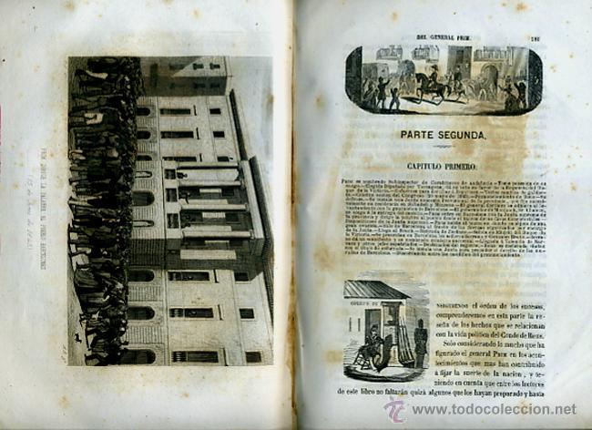 Libros antiguos: LIBRO, 2 TOMOS, HISTORIA MILITAR Y POLITICA D. JUAN PRIM , 1860 , GRABADOS, ORIGINAL - Foto 4 - 41073438