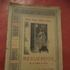 Libros antiguos: RECUERDOS DE UN HOMBRE DE LETRAS. A. DAUDET. SAENZ DE JUBERA HERMANOS, EDITORES. MADRID.. Lote 41378684