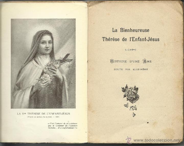 Libros antiguos: LA BIENHEUREUSE THÉRÉSE DE LENFANT JÉSUS - Foto 2 - 41415327