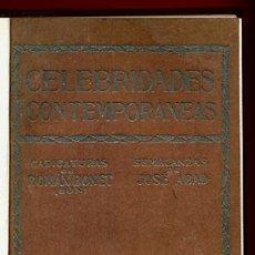 Libros antiguos: LIBRO CELEBRIDADES CONTEMPORANEAS, ILUSTRACIONES, ROMAN BONET JOSE ABAD , ORIGINAL. Lote 42563680