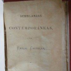 Libros antiguos: SEMBLANZAS CONTEMPORÁNEAS. (LEÓN GAMBETA). EMILIO CASTELAR. . Lote 43296176