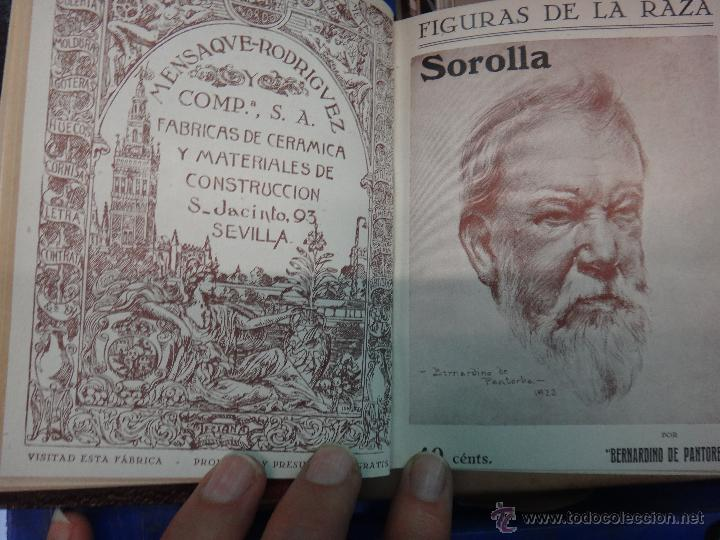 LIBRO ENCUADERNADO CON 14 FIGURAS DE LA RAZA, SOROLLA GALDOS CISNEROS......VER FOTOS , ORIGINAL, B1 (Libros Antiguos, Raros y Curiosos - Biografías )
